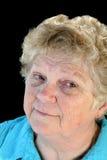 Pensive Senior Lady Stock Photo