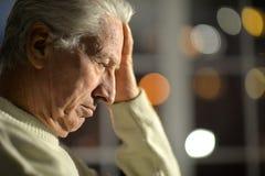 Pensive senior man Stock Images