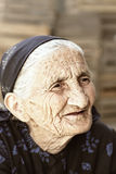 Pensive senior outdoor portrait Royalty Free Stock Image