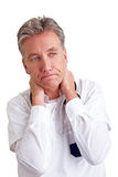 Pensive senior physician Stock Image