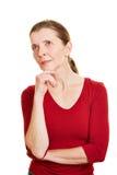 Pensive senior woman thinking Royalty Free Stock Photography