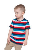 Pensive small boy looks aside Royalty Free Stock Photo