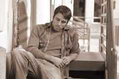 Pensive student Royalty Free Stock Photos