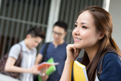 Pensive student Royalty Free Stock Images