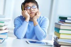Pensive student Stock Photos