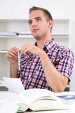 Pensive student Stock Images