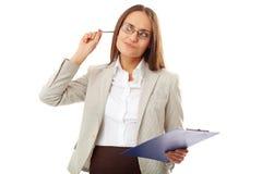 Pensive teacher Royalty Free Stock Photography
