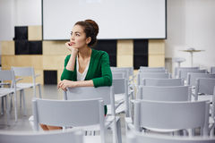 Pensive teacher Stock Images