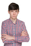 Pensive teen boy Royalty Free Stock Photography