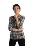 Pensive teenage girl Stock Photography