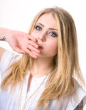 Pensive teenage girl Royalty Free Stock Images