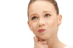 Pensive teenage girl royalty free stock image