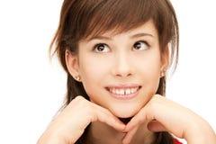Pensive teenage girl stock photos