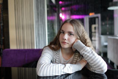 Pensive teenager Royalty Free Stock Photography
