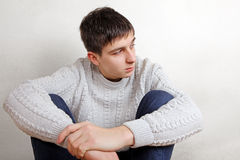 Pensive Teenager thinking Stock Images