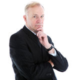 Pensive thoughtful businessman Royalty Free Stock Photo