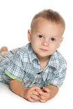 Pensive toddler boy Royalty Free Stock Images