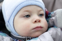 Pensive toddler Stock Images