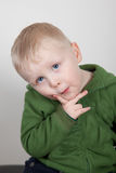 Pensive toddler Royalty Free Stock Photography