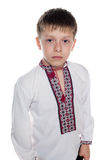 Pensive Ukrainian boy Royalty Free Stock Images