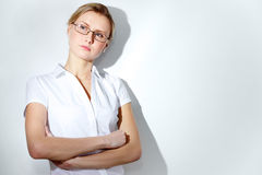 Pensive woman Stock Images