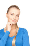 Pensive woman Royalty Free Stock Images