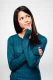 Pensive woman stock photos