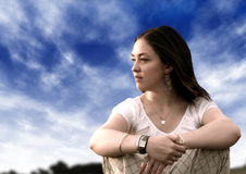 Pensive woman Stock Photos