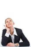 Pensive woman Stock Image