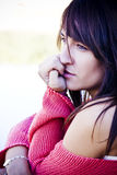 Pensive woman Royalty Free Stock Photo