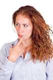 Pensive woman Royalty Free Stock Photo