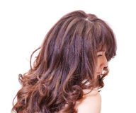 Pensive woman with beautiful hair Royalty Free Stock Photos