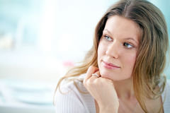 Pensive woman Royalty Free Stock Image