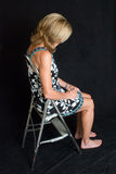 Pensive woman in studio Royalty Free Stock Images