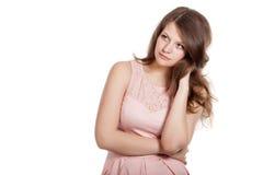 Pensive woman in studio Stock Photos