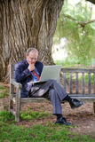 Pensive Work Royalty Free Stock Photography