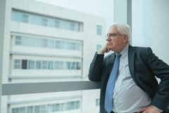 Pensive worried businessman Royalty Free Stock Photography