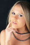 Pensive young beautiful lady Royalty Free Stock Photo