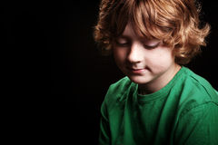 Pensive young boy Stock Photography