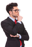 Pensive young business man Stock Photography