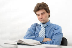 Pensive young businessman Royalty Free Stock Photography
