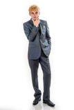 Pensive young businessman Stock Photos