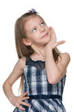 Pensive young girl Royalty Free Stock Image