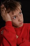 Pensive young guy Stock Photography