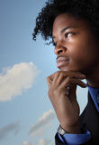 Pensive young man Stock Photography