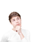 Pensive Young Man Royalty Free Stock Photos
