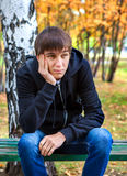 Pensive Young Man outdoor royalty free stock photography