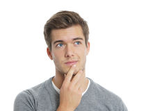 Pensive young man Stock Photos