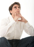 Pensive young man Stock Image