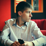 Pensive Young Man royalty free stock images
